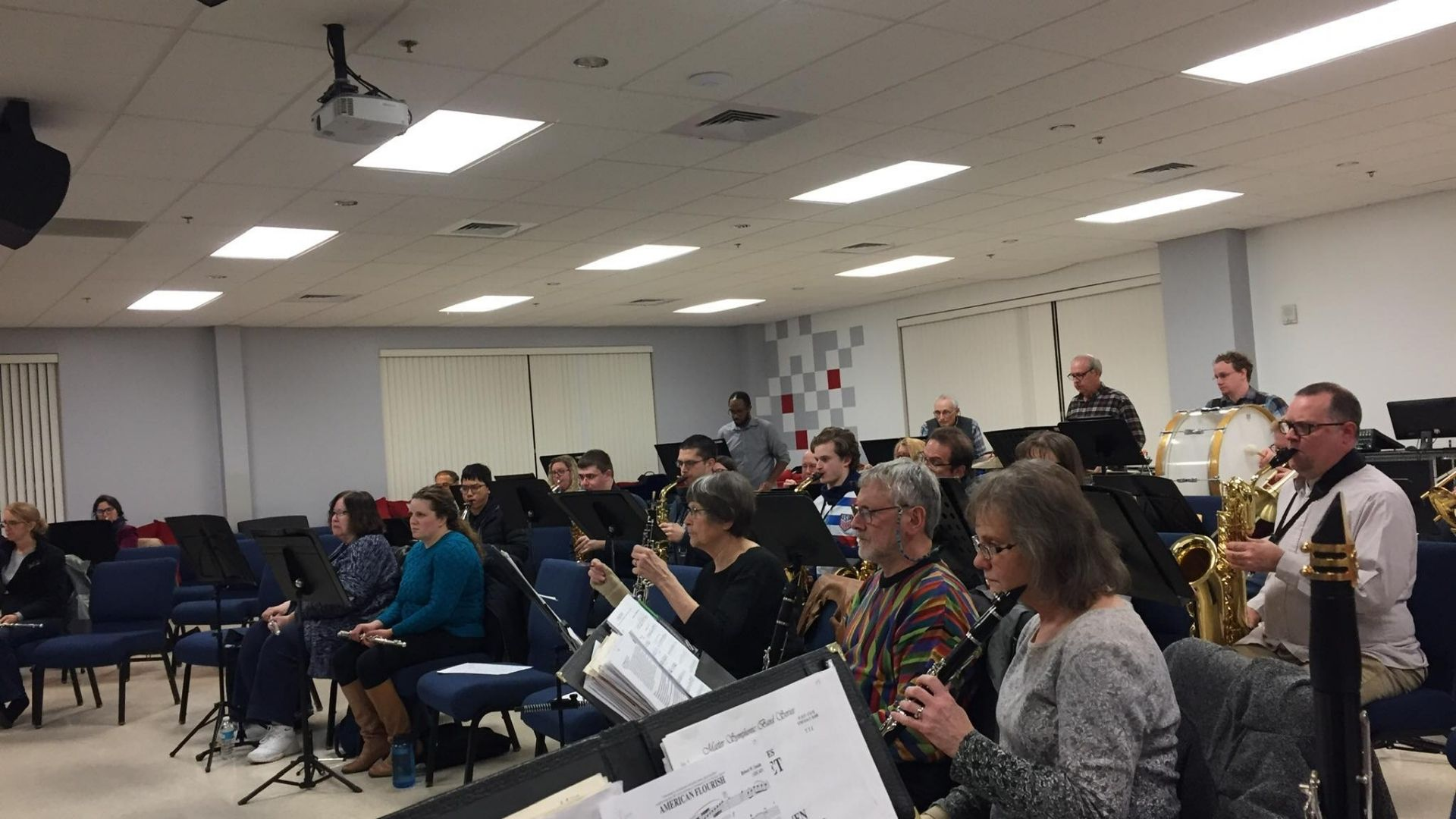 First State Symphonic band practices at OBC
